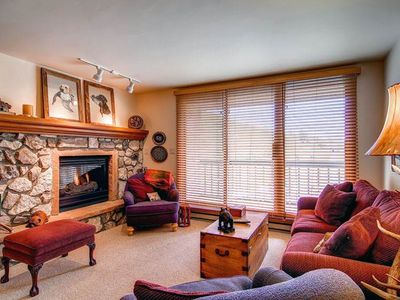 Photo for Watch the lifts go by from your ski-in/ski-out condo w/ a shared pool & hot tub