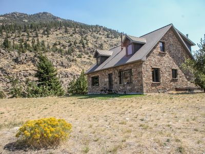 Photo for Private Stone Home on the River-fishing, close to Yellowstone!