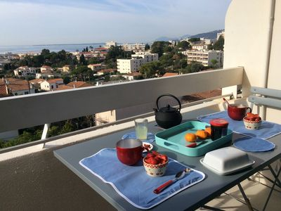 Photo for 3 rooms apartment renovated with panoramic sea view