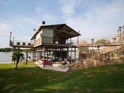 Photo for Summers booking up fast - Value Value Value -  sleeps 15 best dock on LBJ