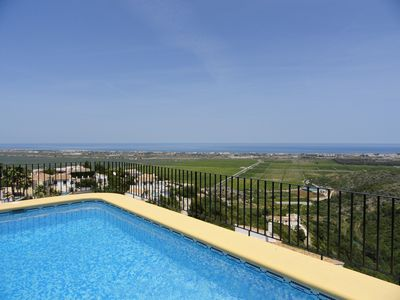 Photo for Detached Villa With Private Pool & Amazing Sea Views on Monte Peogo, Near Denia