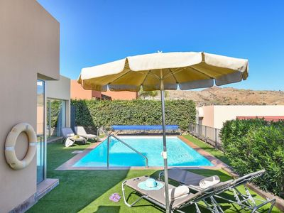 Photo for Lovely apartment for 4 guests with A/C, WIFI, private pool, TV, pets allowed and parking