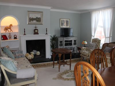 Photo for Delightful & tastefully furnished 18th century quirky townhouse/apartment.