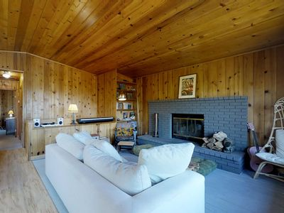 Photo for NEW LISTING! Retro-chic, dog-friendly home w/ a large deck & mountain views