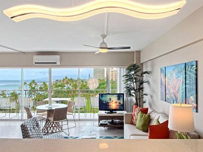 Photo for Enjoy the Space! Super Pacific View, Kitchen Ease, Free WiFi–Waikiki Shore #708