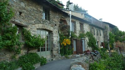 Photo for Pyrenean cottage built into rock, spectacular mountain views, **now with wifi**