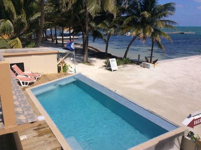 Photo for Beachfront Condo on Caye Caulker - Steps from the beach and has a pool