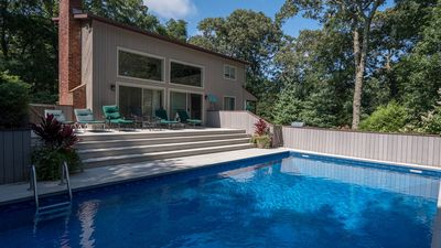 Photo for New Listing: Laid-Back East Hampton Home w/ Private Heated Pool, Sun Porch, Walk to Maidstone Beach
