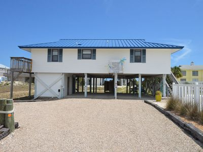 Photo for ENJOY THE GULF BREEZES or stargazing from the spacious deck of this comfortable beach house.