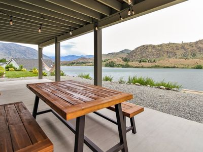 Photo for NEW LISTING! Waterfront home w/ a private dock, foosball, & lake views - dogs OK