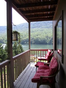Private porch with River views, great sunrise