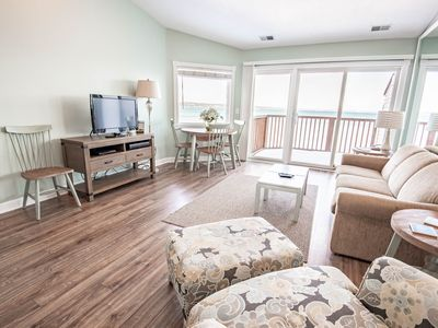 Photo for 1BR Beachfront Condo in Traverse City on Lake Michigan