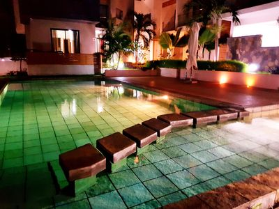 Photo for MODERN APT 3 BEDROOMS SEA VIEW WIFI POOL