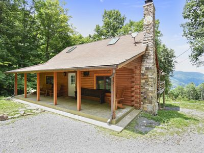 Photo for Secluded Cabin, Comfortable Luxury, Valley Views ~ Mountain Glory