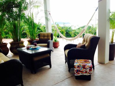 Your private lounge area on the outdoor terrace. Perfect for visiting & relaxing