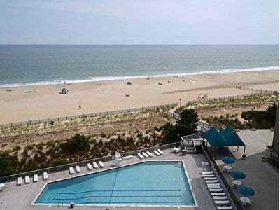 Photo for H804: 2BR+den Sea Colony Oceanfront Condo! Private beach, pools, tennis ...