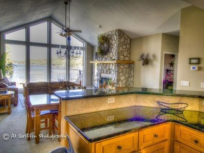 Photo for Beautiful Lakefront Home with amazing, gentle lot and private Dock!