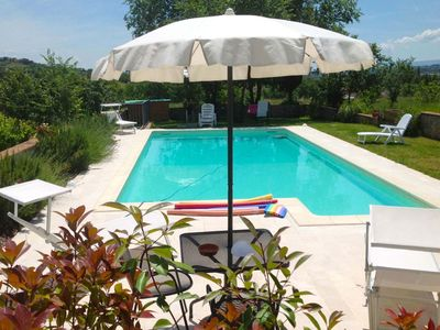 Photo for Wonderful private villa for 7 people with WIFI, private pool, TV and parking, close to Montepulc...