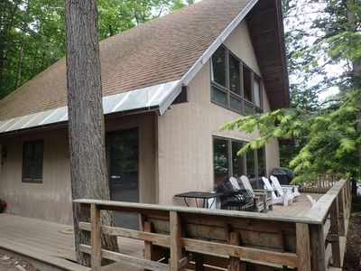 Photo for Lakefront Retreat with New Dock on Private Beach