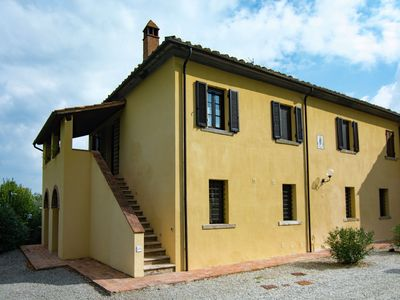 Photo for A small village of five beautiful apartments in the green Tuscan hills.