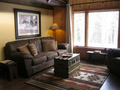 Photo for Circle J-Featured In Log Cabin Living, relaxing pet friendly cabin at Terry Peak