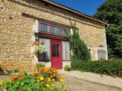 Photo for Beautiful converted barn with pool set in the stunning Charente valley