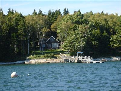 Photo for Maine Island Cottage, Deep Water Ocean Front, Lower Goose Island