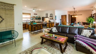 Open Floor plan! But still cozy and just enough color! mixed rustic and new!