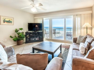 Photo for Cozy Beachfront Condo, Beach Setup Included, Pool, Quick Drive To Dining