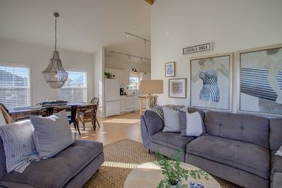Tasteful simple decor adorns the walls throughout the home.