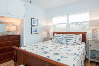 Master bedroom is cozy, super-comfy and perfect for lounging and snuggling.