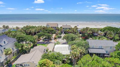 aerial view shoing proximity to Folly's beautiful beach