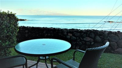 Amazing private view of the ocean from the lanai.