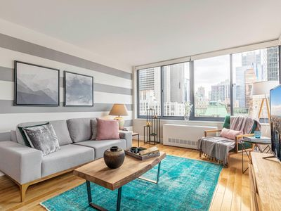 Photo for Clever 1BR near Broadway w/ Indoor pool + Gym by Blueground