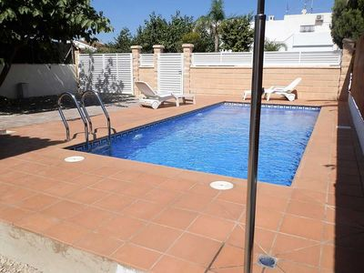 Photo for CASA HABANA,Ideal house for your holidays near the sea, free wifi, air conditioning, private pool, pets allowed, dog's beach.