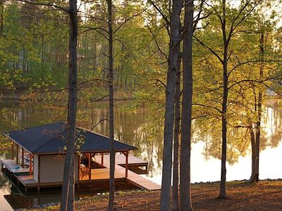 Photo for Pauley Lakehouse- beautiful lakefront home, private side, fire-pit, kayaks/canoe