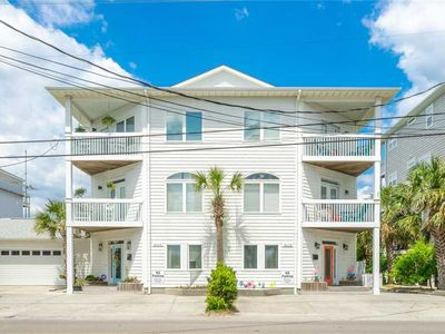 Photo for Bella's Beach Chateau - Beautiful Duplex only 6 Blocks from Downtown Carolina Beach, Pet-friendly!