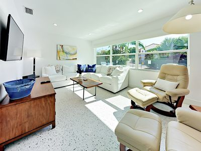 Living Room - The sunny living space serves as the social heart of the home.