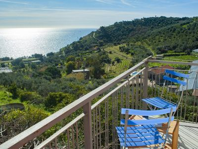 Photo for Casale degli Ulivi house with big garden and wit panoramic view of the sea