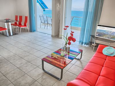 Photo for Two Bedroom Fully Equipped Seaside Apartment with Stunning Sea Views