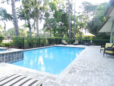 Photo for Live Oak, Bright Open Home, Pool & Spa, Golf Views, Walk to Beach, Pet Friendly