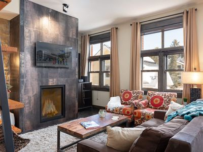 Photo for Large & Luxe | One Floor Condo | Private Garage | Nestled at Base | Ski In / Ski Out