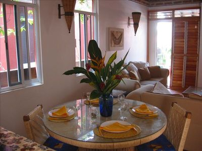 Dining Table and Living Room Furnishings