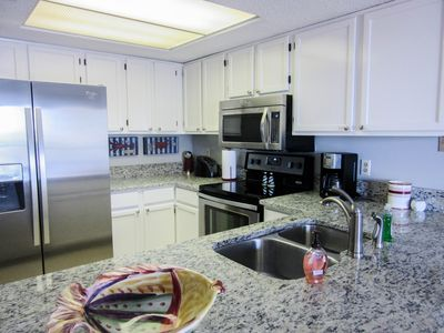 New Stainless appliances and granite countertops