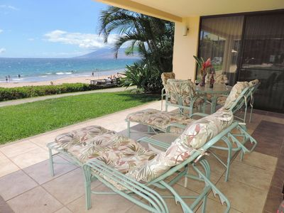 Photo for Beachfront, Polo Beach Wailea/Makena #104 - Accommodates 1-6, Free WiFi