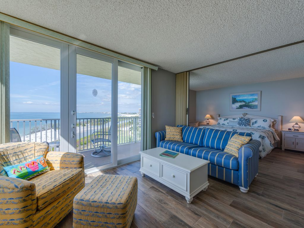Stunning View From The Direct Gulf Front Condo South Island