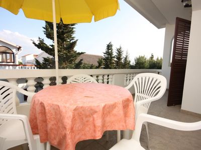 Photo for Two bedroom apartment near beach Vrsi - Mulo, Zadar (A-6155-f)