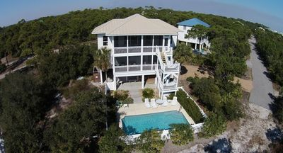 Our home facing the gorgeous Gulf! Two houses on our street with open views!