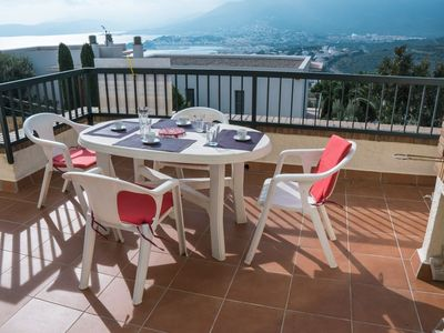 Photo for Bright apartment with wonderful panoramic views of the sea and the mountains of l'Albera.