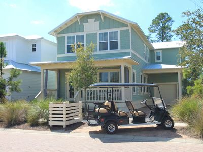 Photo for 6 SEAT GOLF CART, 4 Bikes, HEATED POOL! Toasting Mermaids at NatureWalk 30A